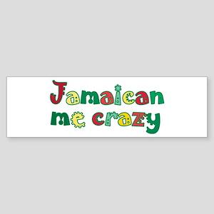 Jamaican Me Crazy Sticker (Bumper)