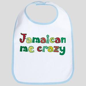 Jamaican Me Crazy Cotton Baby Bib