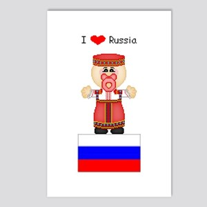 I Love Russia Postcards (Package of 8)