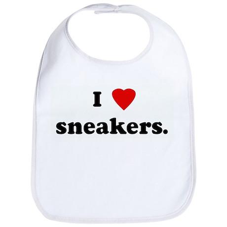 I Love sneakers. Bib
