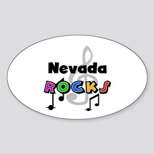 Nevada Rocks Oval Sticker