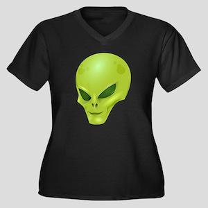 Alien Face Plus Size T-Shirt