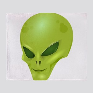 Alien Face Throw Blanket