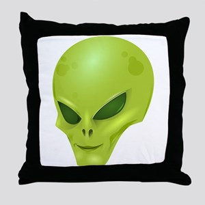Alien Face Throw Pillow