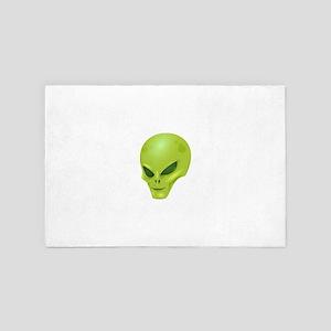 Alien Face 4' x 6' Rug