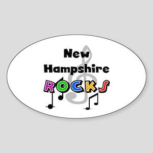 New Hampshire Rocks Oval Sticker