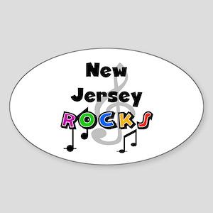 New Jersey Rocks Oval Sticker