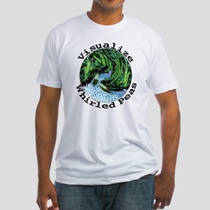 Visualize Whirled Peas Fitted T-Shirt