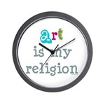 Art is My Religion Wall Clock