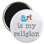 Art is My Religion Magnet