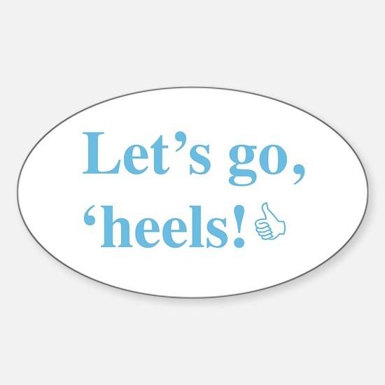 Cute Tar heels Sticker (Oval)