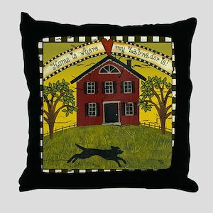 Primitive Labrador Throw Pillow