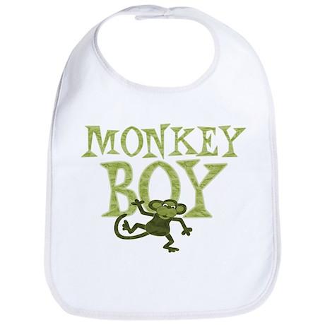 Yellow Monkey Boy Bib
