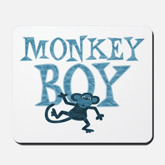 Blue Monkey Boy Mousepad