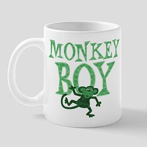 Green Monkey Boy Mug