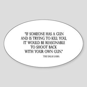 Pro Gun Oval Sticker