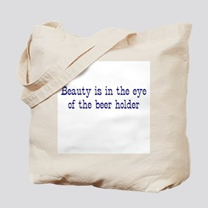 Beauty and the Beer Holder Tote Bag