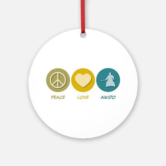 Peace Love Aikido Ornament (Round)