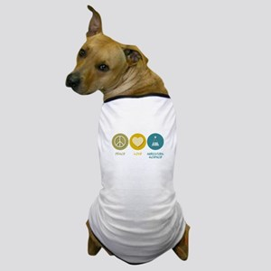 Peace Love Agricultural Science Dog T-Shirt