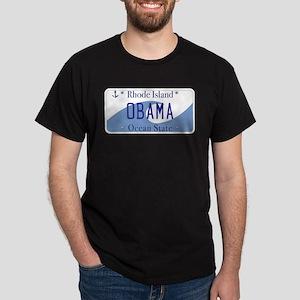 Rhode Island Supports Obama Dark T-Shirt