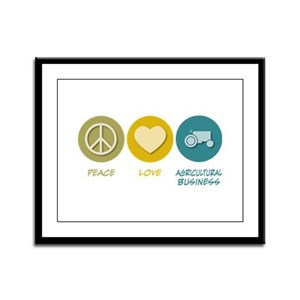 Peace Love Agricultural Business Framed Panel Prin