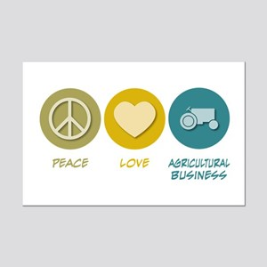 Peace Love Agricultural Business Mini Poster Print