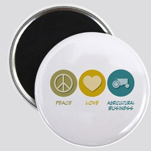 Peace Love Agricultural Business Magnet