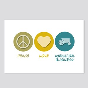 Peace Love Agricultural Business Postcards (Packag