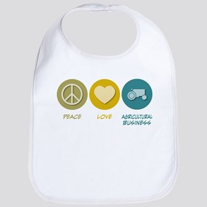 Peace Love Agricultural Business Bib