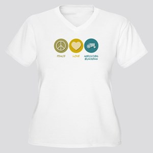Peace Love Agricultural Business Women's Plus Size