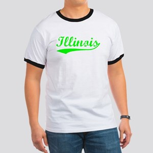Vintage Illinois (Green) Ringer T
