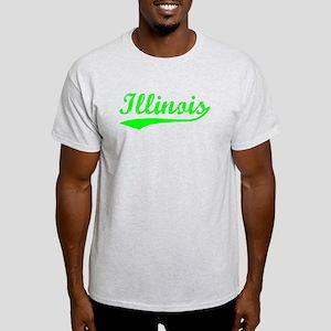 Vintage Illinois (Green) Light T-Shirt