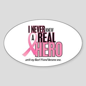Never Knew A Hero 2 (Best Friend) Oval Sticker
