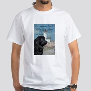 Lord Byron Newf White T-Shirt