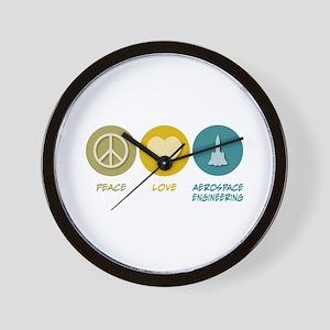 Peace Love Aerospace Engineering Wall Clock