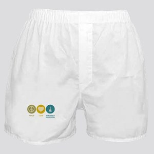 Peace Love Aerospace Engineering Boxer Shorts