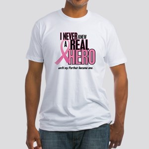 Never Knew A Hero 2 (Partner) Fitted T-Shirt
