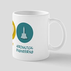 Peace Love Aeronautical Engineering Mug