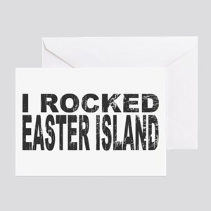I Rocked Easter Island Greeting Card