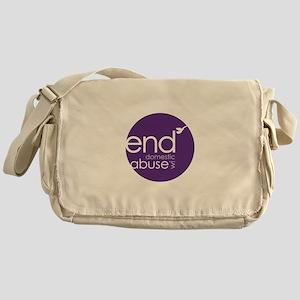 End Abuse Circle Messenger Bag