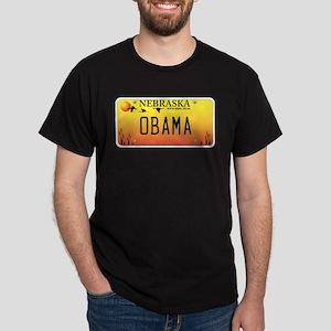 Nebraska Supports Obama Dark T-Shirt
