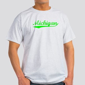 Vintage Michigan (Green) Light T-Shirt
