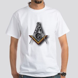 Masonic Square and Compass White T-Shirt