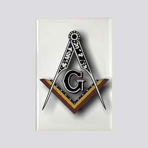 Masonic Square and Compass Rectangle Magnet
