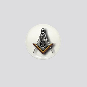 Masonic Square and Compass Mini Button