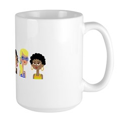 "Cafe Paige's ""Pretty Girls"" Large Mug"