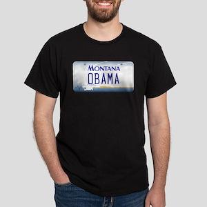 Montana Supports Obama Dark T-Shirt