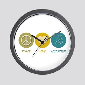 Peace Love Acupuncture Wall Clock