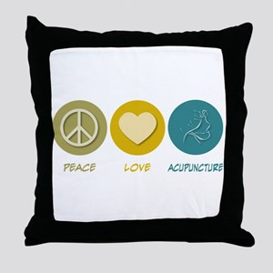 Peace Love Acupuncture Throw Pillow