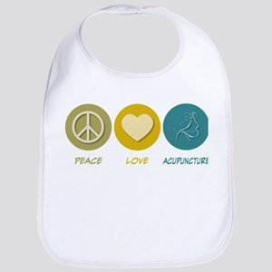 Peace Love Acupuncture Bib